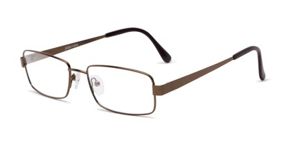 Angle of Lewis by felix + iris in Brown, Men's Rectangle Reading Glasses
