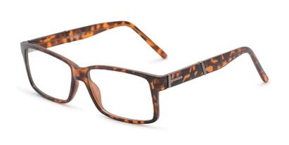 Angle of The Liam Customizable Reader in Matte Tortoise, Women's and Men's Rectangle Reading Glasses