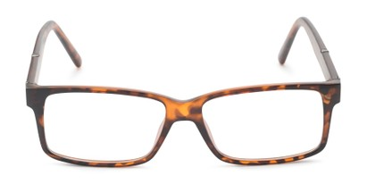 Front of The Liam Customizable Reader in Matte Tortoise