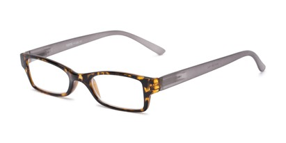 Angle of The Lime in Tortoise/Grey, Women's and Men's Rectangle Reading Glasses