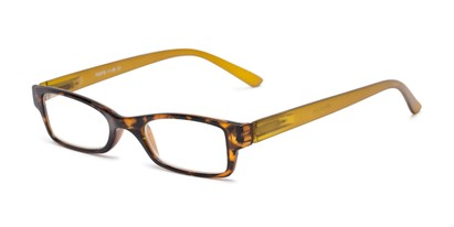 Angle of The Lime in Tortoise/Olive, Women's and Men's Rectangle Reading Glasses