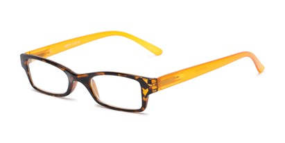 Angle of The Lime in Tortoise/Orange, Women's and Men's Rectangle Reading Glasses
