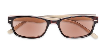 Folded of The Liverpool Reading Sunglasses in Tortoise with Amber