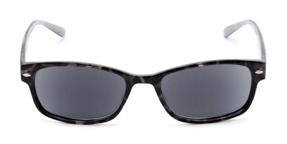Front of The Liverpool Reading Sunglasses in Grey Tortoise with Smoke