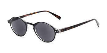 d45a97aa15b Angle of The Loft Reading Sunglasses in Black Tortoise with Smoke