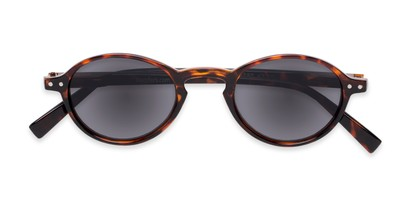 Folded of The Loft Reading Sunglasses in Tortoise with Smoke