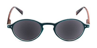 Front of The Loft Reading Sunglasses in Blue/Tortoise with Smoke