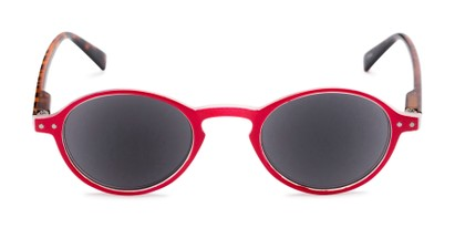 Front of The Loft Reading Sunglasses in Red/Tortoise with Smoke
