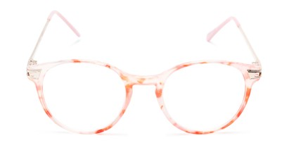 Front of The Lola in Pink/White Tortoise
