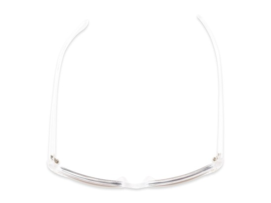 Overhead of The Lorina Bifocal Reading Sunglasses in White/Clear with Amber