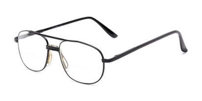 Angle of The Lubbock Bifocal in Black, Men's Aviator Reading Glasses