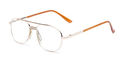 Angle of The Lubbock Bifocal in Gold, Men's Aviator Reading Glasses