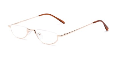 Angle of The Lynwood in Gold, Women's and Men's Round Reading Glasses