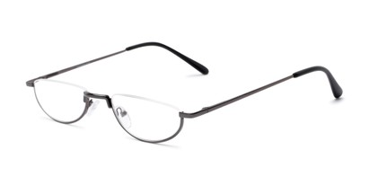 Angle of The Lynwood in Grey, Women's and Men's Round Reading Glasses