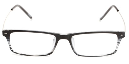 wire temple striped reading glasses