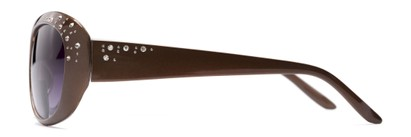 Side of The Mable Bifocal Reading Sunglasses in Brown with Smoke