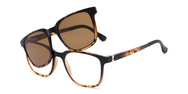 8407b0e3d34 Angle of The Mack Polarized Magnetic Reading Sunglasses in Tortoise with  Amber