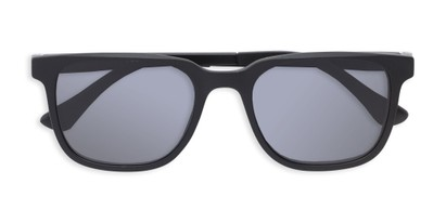 Folded of The Mack Polarized Magnetic Reading Sunglasses in Black with Smoke