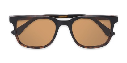 Folded of The Mack Polarized Magnetic Reading Sunglasses in Tortoise with Amber