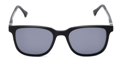 Front of The Mack Polarized Magnetic Reading Sunglasses in Black with Smoke