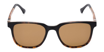 Front of The Mack Polarized Magnetic Reading Sunglasses in Tortoise with Amber