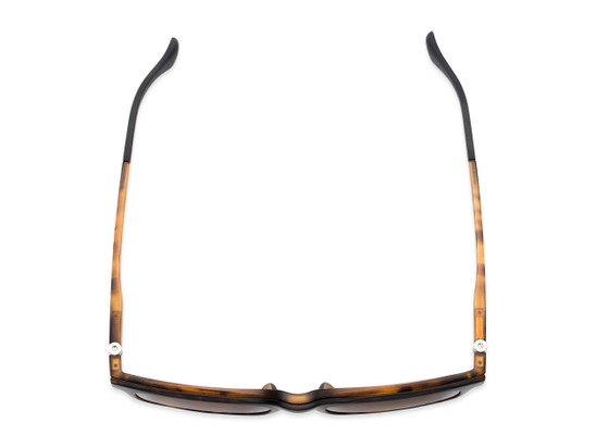 Overhead of The Mack Polarized Magnetic Reading Sunglasses in Tortoise with Amber