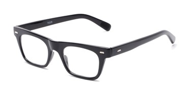 54d5557a7043 Angle of The Madden in Black, Women's and Men's Retro Square Reading Glasses