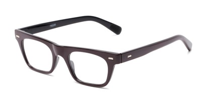 Angle of The Madden in Burgundy, Women's and Men's Retro Square Reading Glasses
