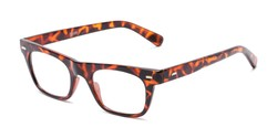 Angle of The Madden in Tortoise, Women's and Men's Retro Square Reading Glasses