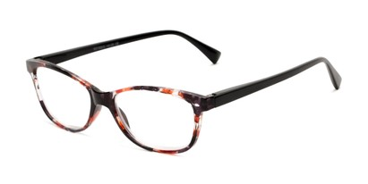 Angle of The Magda in Orange Tortoise/Black, Women's Cat Eye Reading Glasses
