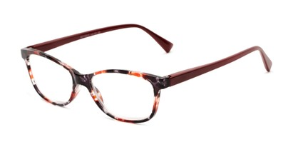 Angle of The Magda in Red Tortoise/Red, Women's Cat Eye Reading Glasses