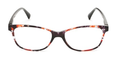 Front of The Magda in Orange Tortoise/Black