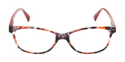 Front of The Magda in Red Tortoise/Red