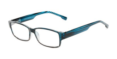 Angle of The Magnus in Blue Stripe, Women's and Men's Rectangle Reading Glasses