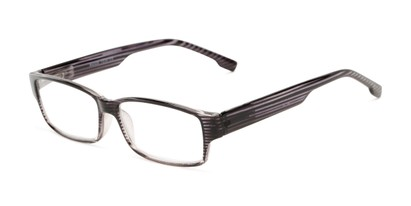 Angle of The Magnus in Grey Stripe, Women's and Men's Rectangle Reading Glasses