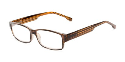 Angle of The Magnus in Tan Stripe, Women's and Men's Rectangle Reading Glasses