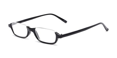 Angle of The Main Street in Black, Women's and Men's Rectangle Reading Glasses
