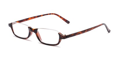 Angle of The Main Street in Tortoise, Women's and Men's Rectangle Reading Glasses