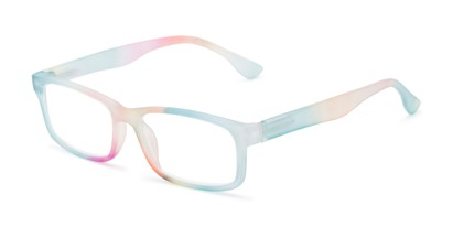Angle of The Mango in Blue Rainbow, Women's Rectangle Reading Glasses