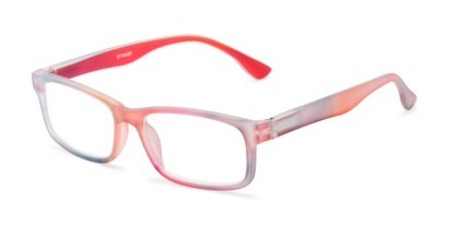Angle of The Mango in Red Rainbow, Women's Rectangle Reading Glasses