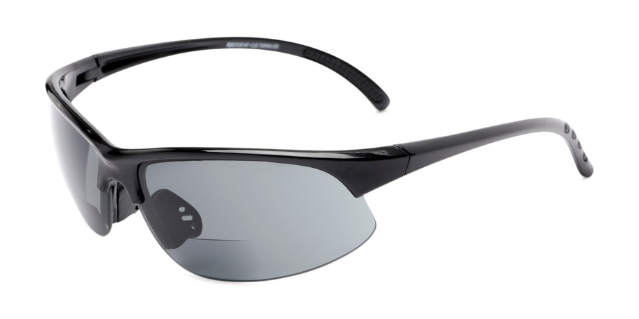 06d0e6015fe4 Angle of The Marathon Bifocal Reading Sunglasses in Black with Smoke  Lenses