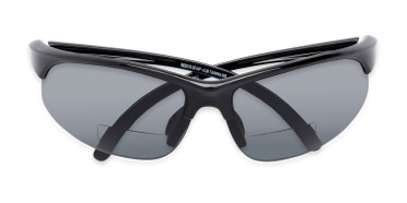 3a78f75e2a Folded of The Marathon Bifocal Reading Sunglasses in Black with Smoke Lenses