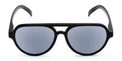 Front of The March Reading Sunglasses in Matte Black with Smoke
