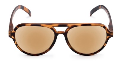 Front of The March Reading Sunglasses in Matte Tortoise with Amber