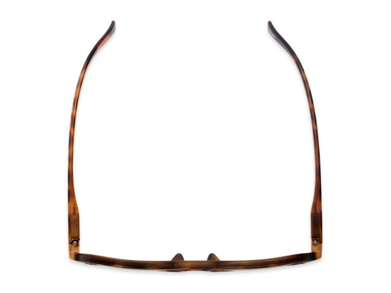 Overhead of The March Reading Sunglasses in Matte Tortoise with Amber
