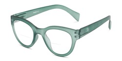 Angle of The Maren Bifocal in Dark Matte Green, Women's Cat Eye Reading Glasses