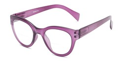 Angle of The Maren Bifocal in Matte Purple, Women's Cat Eye Reading Glasses