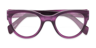 Folded of The Maren Bifocal in Matte Purple