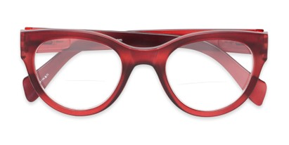 Folded of The Maren Bifocal in Dark Matte Red