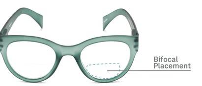 Detail of The Maren Bifocal in Dark Matte Green